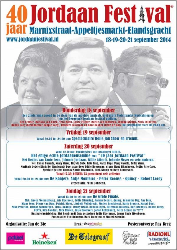 Jordaan Festival programma 2014