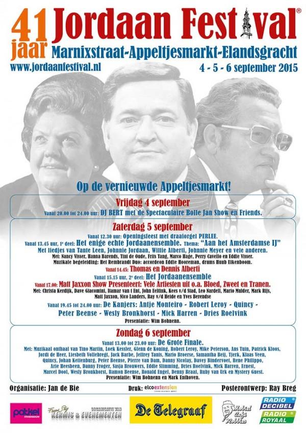 Jordaan Festival 2015 poster