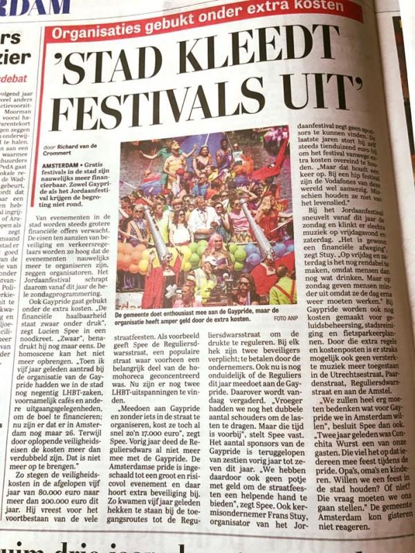Stad kleedt festivals uit