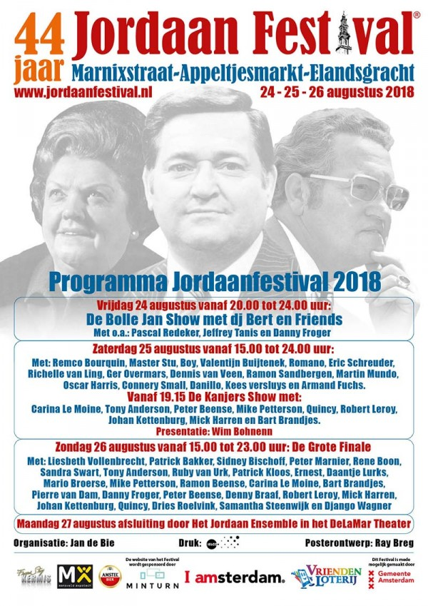 Poster Jordaan Festival 2018